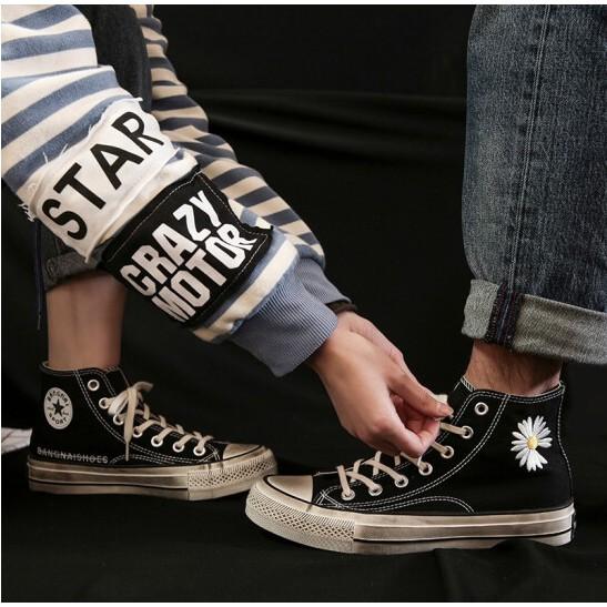 【แท้Peaceminusone X Converse รองเท้าผ้าใบสตรีแนวเกาหลี