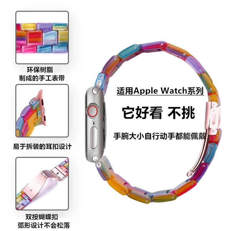 ✣สายรัด iwatch ที่ใช้งานได้ Applewatch สายเรซิน Apple 6/5/4/3/21 รุ่น SE44 / 40 / 38MM♗