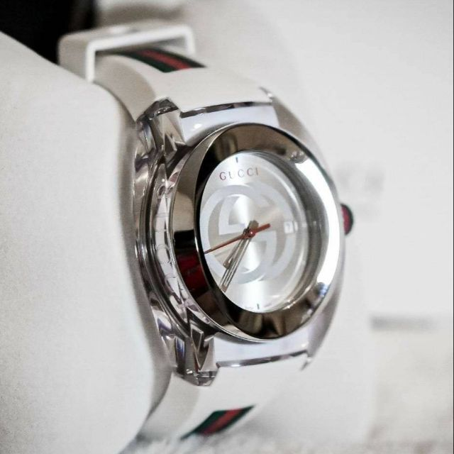 Gucci Sync Stainless Steel & Rubber Strap Watch