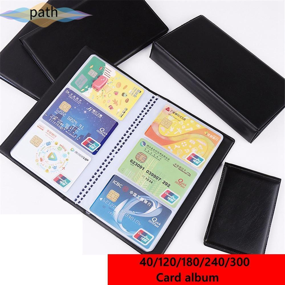 PATH Wallet Card Holder Books Paper Craft Book Case Cards Album Credit Card New Container Collection Leather