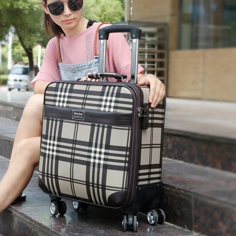 ❒ஐ▩กระเป๋าเดินทางขนาดเล็ก กระเป๋าเดินทางใบเล็ก ล้ออเนกประสงค์ หญิง กระเป๋าใส่รถเข็นขนาด 18 นิ้ว กระเป๋าเดินทางขนาด 16 นิ