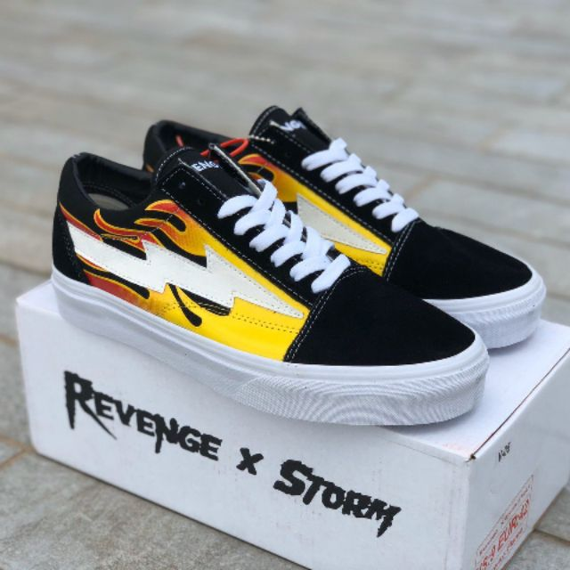 ของแท้ 100% VANS REVENGE X STORM FLAME PREMIUM canvas shoes