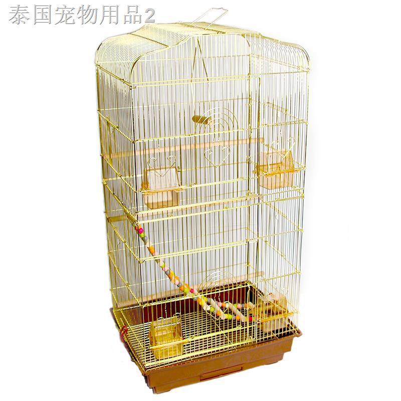 ❃▽นกแก้วกรงนก Xi Tiger Skage Gold Sun Parrot วิลล่าขนาดใหญ่หรูหราเหล็กดัดกล่องเพาะพันธุ์นกขนาดใหญ่