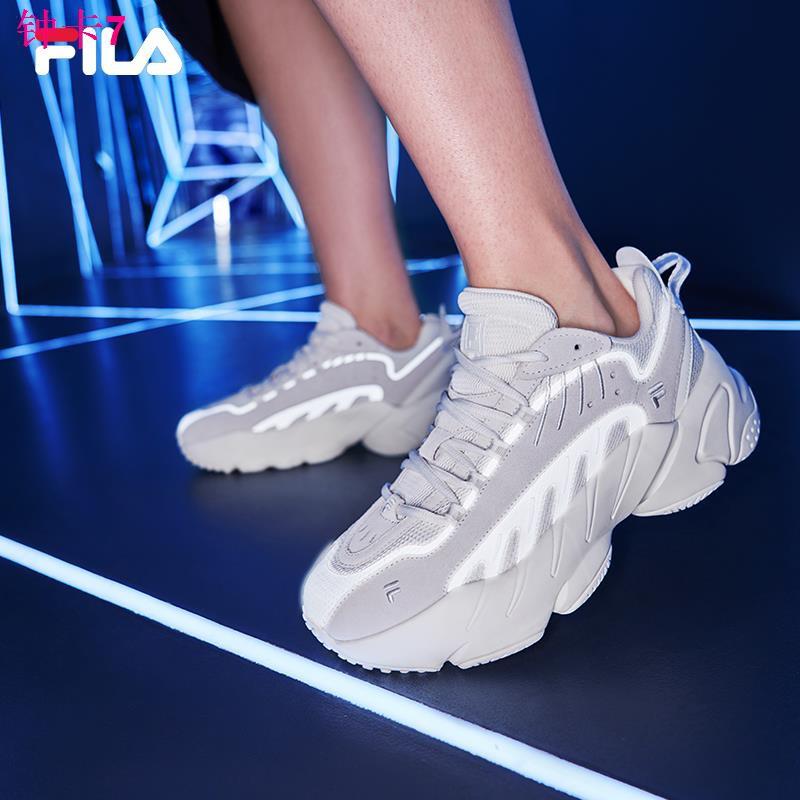 ◙☒FILA FIEL ADE รองเท้าเก่าหญิง 2021 ฤดูใบไม้ผลิและฤดูร้อนใหม่กีฬาสบาย ๆ วิ่งสวมใส่ Shou มือรองเท้าวิ่งชาย