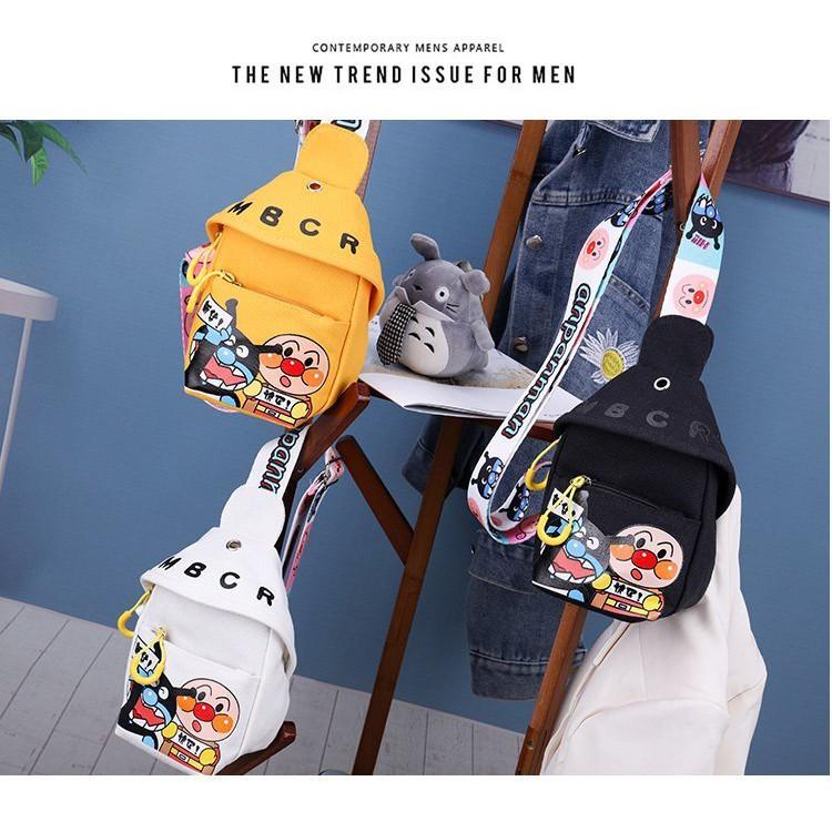 ▦การ์ตูนน่ารัก กระเป๋าผ้าใบขนาดเล็ก, กระเป๋าคาดหน้าอกสำหรับเด็ก, กระเป๋าเดินทางกลางแจ้งที่เบาและเอนกประสงค์, กระเป๋าสะพ
