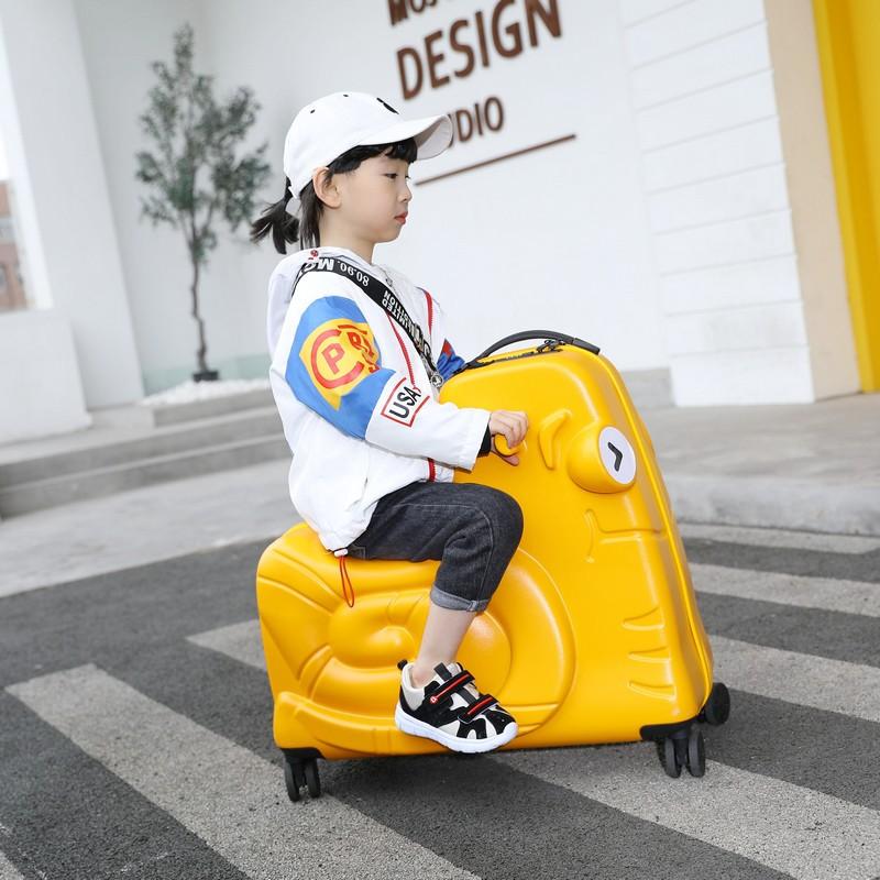 ㇼ⚡ กระเป๋ารถเข็นเดินทาง กระเป๋าเดินทางพกพา กระเป๋าเดินทางเด็ก กระเป๋าเดินทางขนาดใหญ่สำหรับเด็ก, กระเป๋าเดินทางแบบติดตั้ง