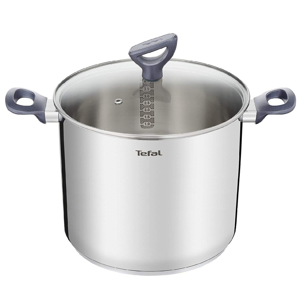 Tefal Daily Cook Stainless Steel Induction Stockpot (22cm, 6.2L) Dishwasher Oven Safe No PFOA Silver
