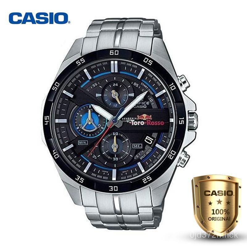 (รุ่นพิเศษ) Casio Edifice รุ่น EFR-556TR-1A สินค้าขายดี นาฬิกาข้อมือผู้ชาย สายสแตนเลส Red Bull Scuderia Toro Rosso Limit