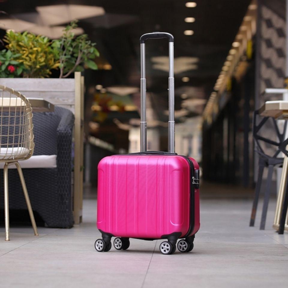 ขายส่งเฉพาะจุด❃กระเป๋าเดินทางแบบโดยสาร Spring Airlines ขนาด 14 นิ้ว กระเป๋าเดินทางแบบล้อลากขนาดเล็ก กระเป๋าเดินทางชายและ