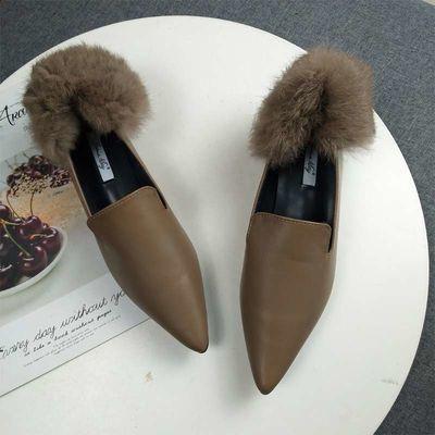 ❤️รองเท้าคัชชูผู้หญิงพื้นยางนิ่ม รองเท้าส้นแบนทรงหัวแหลมสำหรับผู้หญิง