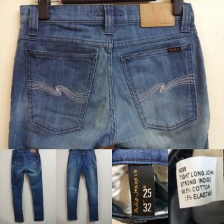 Nudie TLJ  Strong Indigo W25 L32 แ