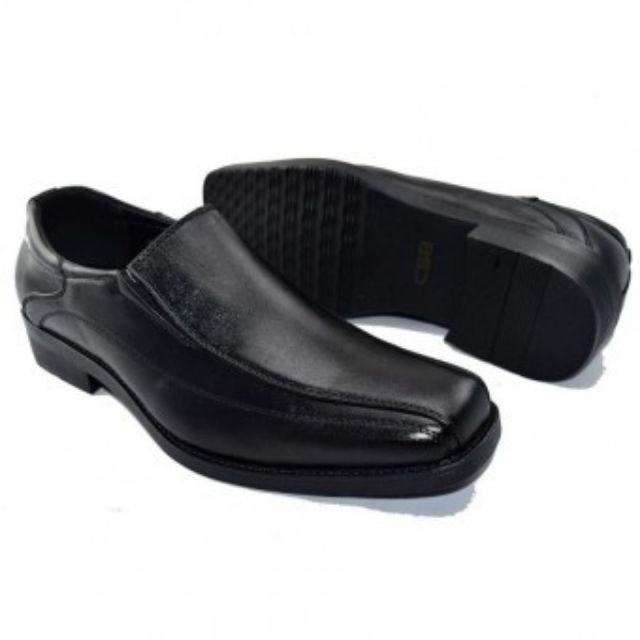 รองเท้าเด็กผู้ชาย รองเท้า รองเท้าหนัง คัชชู หนังผู้ชายแบบสวม CSB 500 ไซส์ 39-46 CSB รองเท้า คัชชูหนังขัดมันชาย
