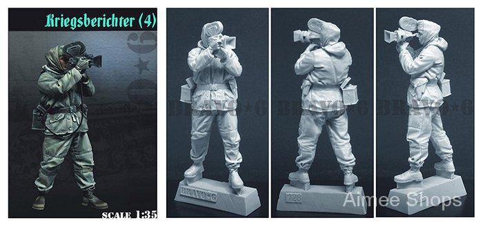 Unpainted Kit 1/35   Kriegsberichter soldier   Resin Figure miniature garage kit aVNq
