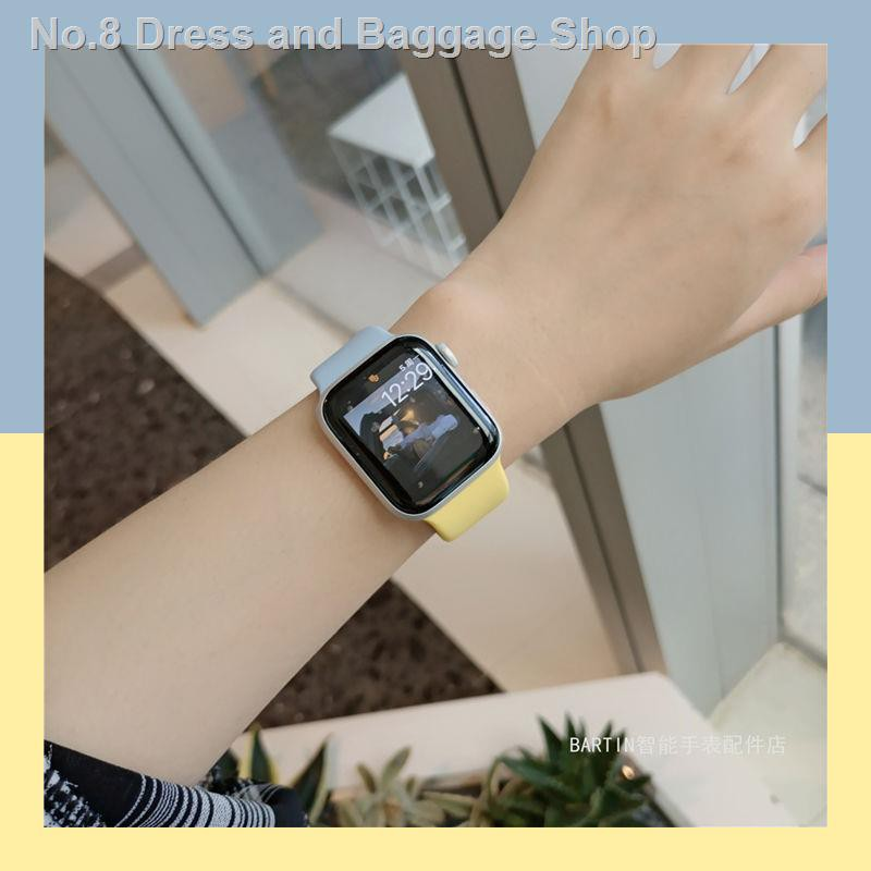 _ สายนาฬิกาข้อมือซิลิโคนสําหรับ Applewatch 4