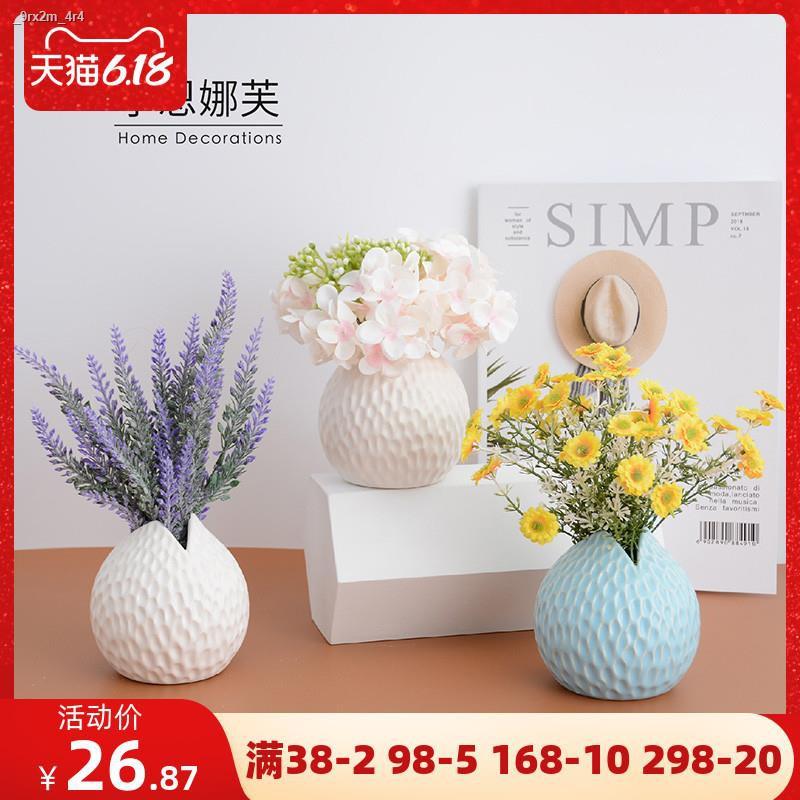 การจำลองพันธุ์ไม้อวบน้ำ❀✗∈ลาเวนเดอร์เบญจมาศ ไฮเดรนเยียจำลองดอกไม้ชุดตกแต่งดอกไม้ปลอมห้องนั่งเล่นตกแต่งกระถางดอกไม้ตกแต่ง