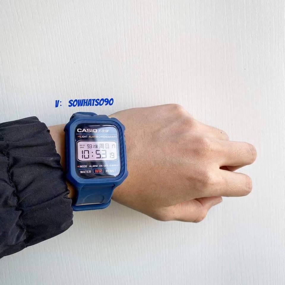 💥 สาย applewatch 🔥 สายรัดลมที่ใช้งานได้ของ Applewatch iwatch5 / 4/3/2 รุ่น Apple Watch ธารน้ำแข็ง จำกัด โปร่งใส