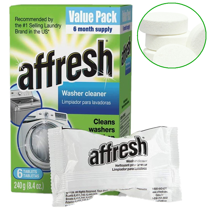 6pcs Affresh Washer Machine Cleaner Block Washing Machine Cleaning Tablets Clothes Cleaner Effervescent Cleaner