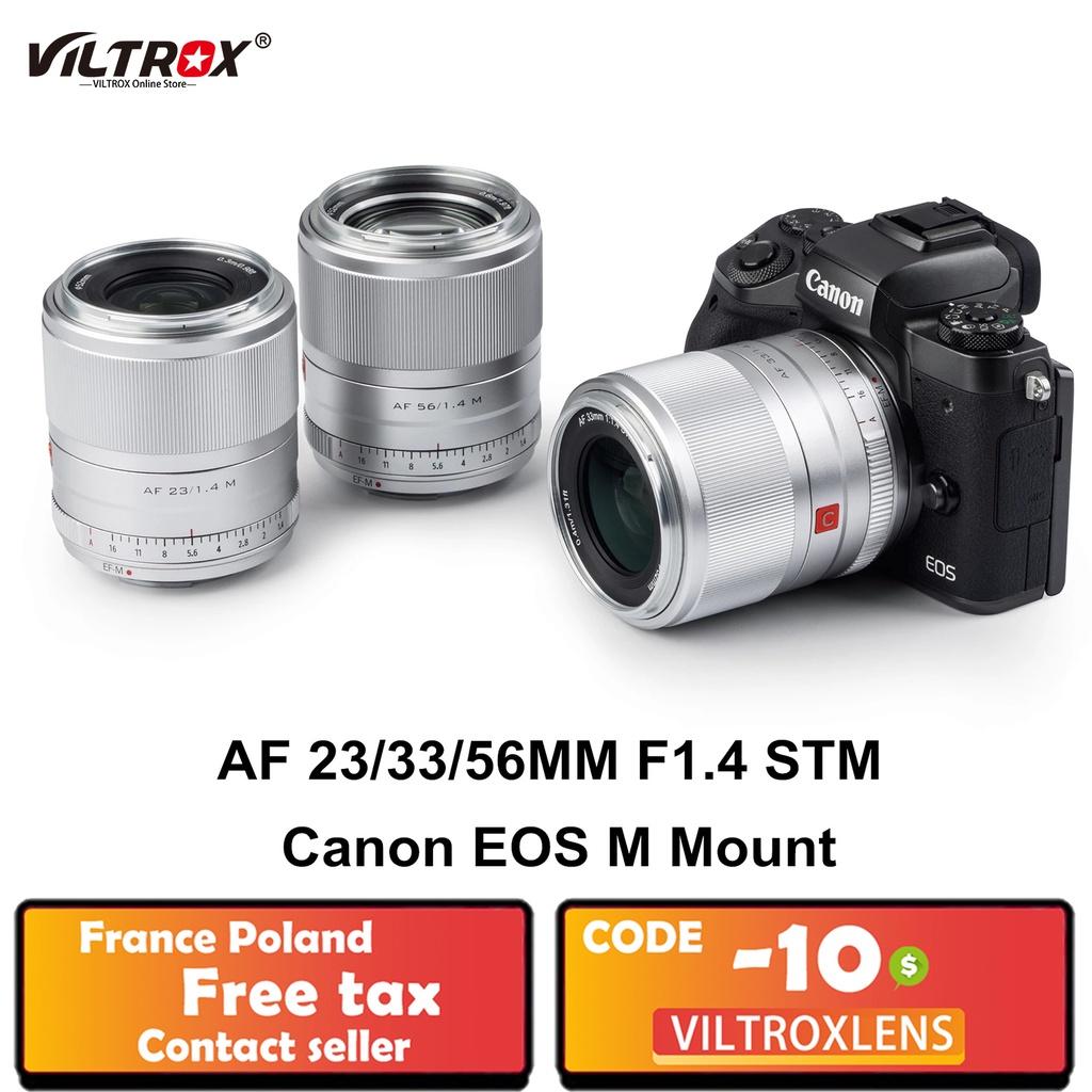 หมอนท่องเที่ยว  Viltrox 23/33/56mm f1.4 EFM Large Aerture Auto Focus ortrait Lens ASC Lens for Canon Lens EOS MMount Cam
