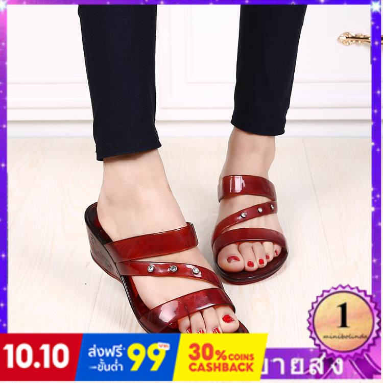 ⭐👠รองเท้าส้นสูง หัวแหลม ส้นเข็ม ใส่สบาย New Fshion รองเท้าคัชชูหัวแหลม  รองเท้าแฟชั่นผู้หญิงลิ่มใหม่แฟชั่นคริสตัลรองเท้า
