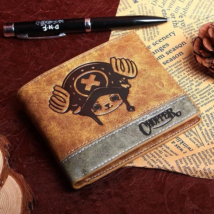 กระเป๋าสตางค์ใบสั้นพิมพ์ลาย Japanese Anime Death Note/ Attack on Titan/ One Piece/ Game OW Short Wallet With Coin Pocket Zipper Poucht Billetera