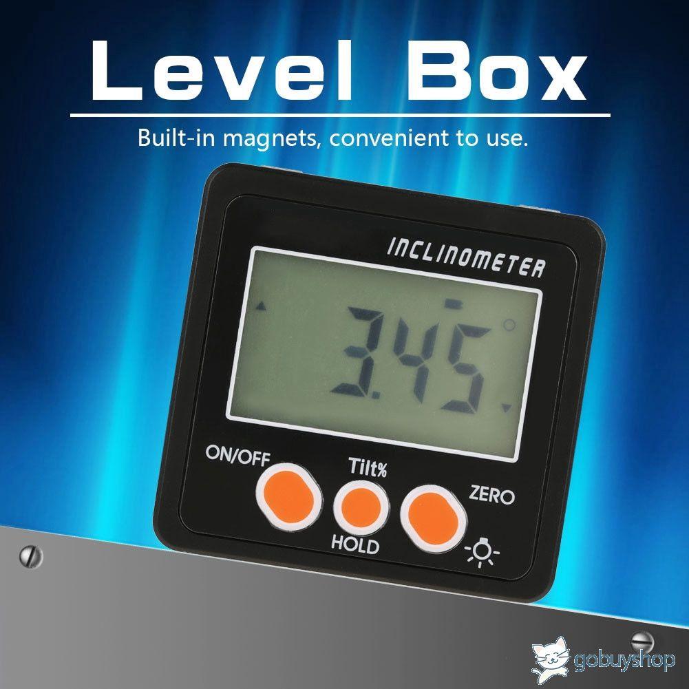 360° Digital Inclinometer Protractor LCD Level Angle Finder Gauge Meter Magnetic