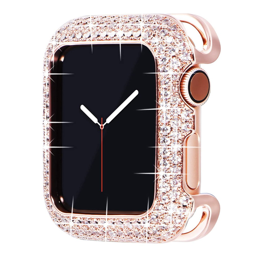Apple Watch Case Bling Metal Diamond Applewatch Case for iWatchSeries 6/5/4/3/2/1/ Apple watch se Cover