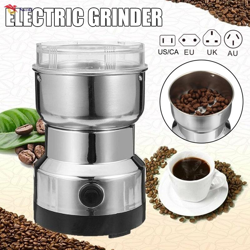 COD เครื่องบดไฟฟ้าเครื่องบดธัญพืชโรงโม่แป้งเมล็ดกาแฟบด เครื่องบดเมล็ดธัญพืช ขนาดเล็ก สำหรับใช้ในครัวเรือน เครื่องทำกาแฟ บดเครื่องเทศ บดสมุนไพร  Electric coffee grinder เครื่องบดกาแฟไฟฟ้า เครื่องชงกาแฟ เครื่องชงชา เครื่องบดธัญพืช แบบพกพา ผลิตจากวัสดุ