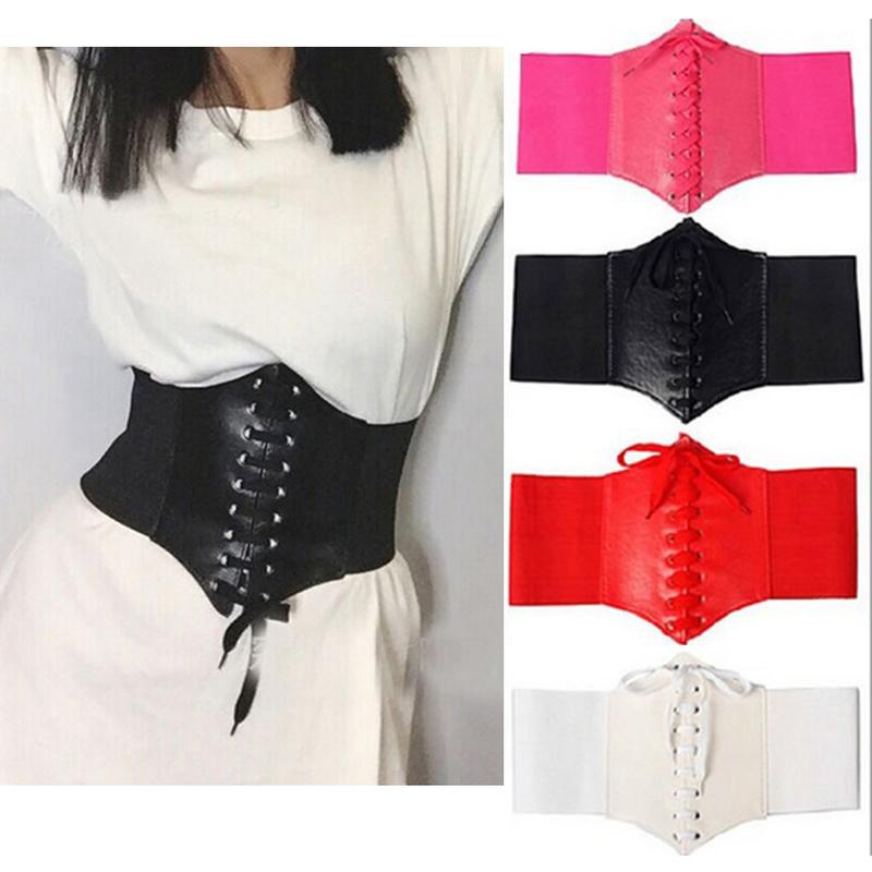 2020 Corset Wide Belts Pu Leather Slimming Body Belts for women Elastic Waist