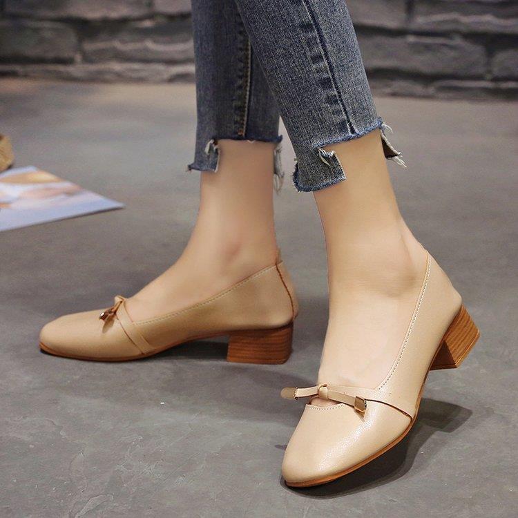 รองเท้าคัชชูผู้หญิง🌼รองเท้าคัชชู หัวแหลม🌼รองเท้าคัชชูเปิดส้น รองเท้าหนังผู้หญิง รองเท้าทำงาน สีสวย ใส่ไปทำงานได้