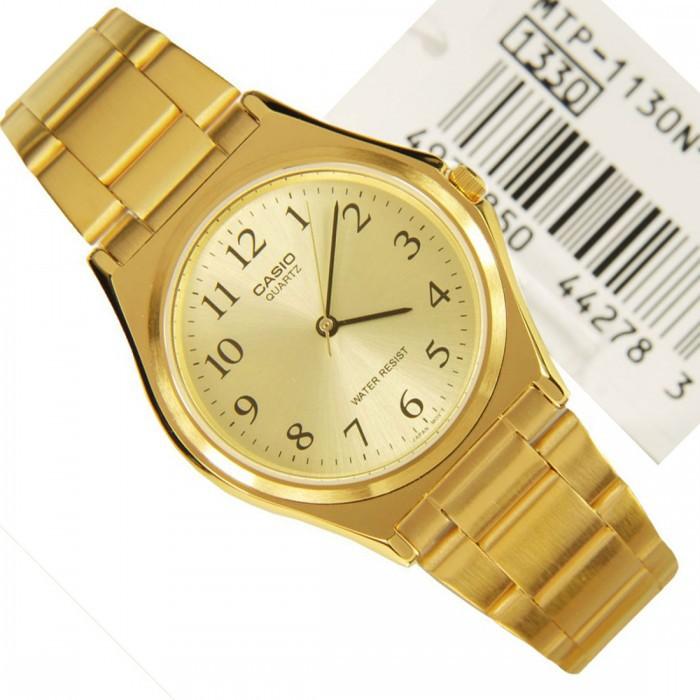 Casio นาฬิกาข้อมือ สีทอง สายสแตนเลส รุ่น MTP-1130N-9BRDF