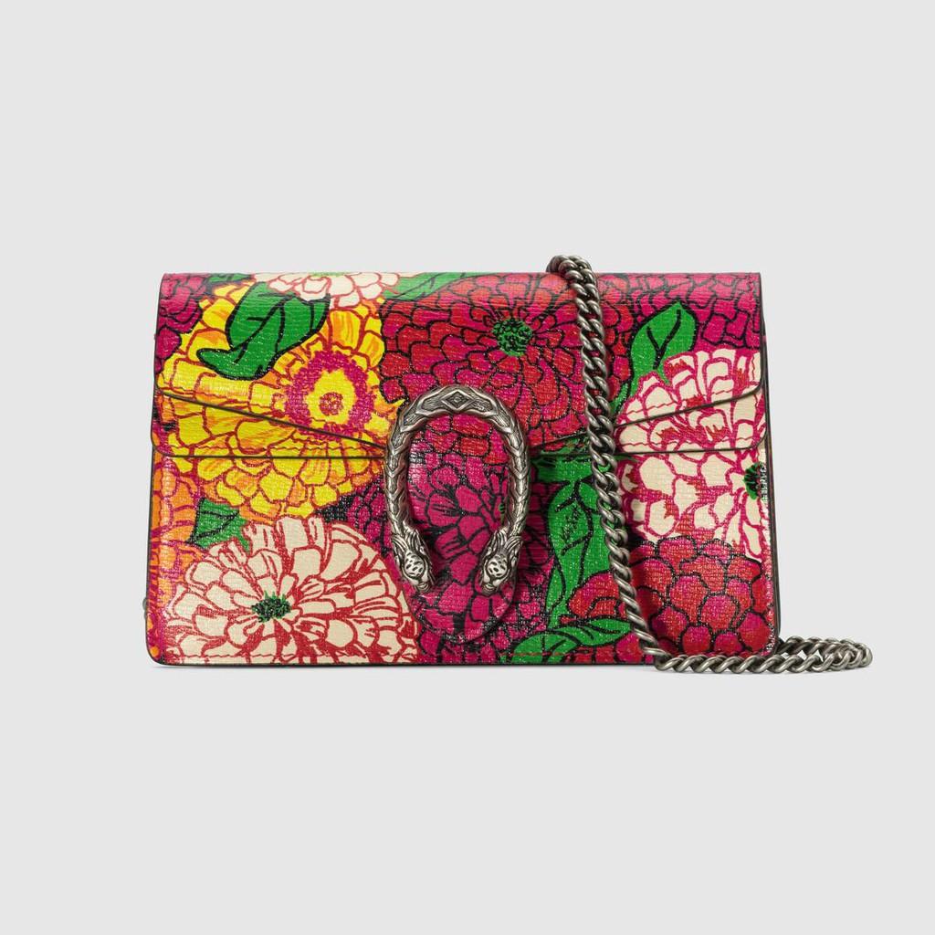 Gucci / แบบใหม่ / ศิลปิน Ken Scott พิมพ์ชุด Dionysus series super mini กระเป๋าถือ / กระเป๋าสะพาย / ของแท้ 100% / 16.5CM