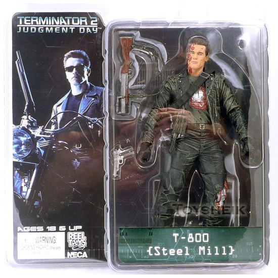 ★HOT★ โมเดล NECA The Terminator 2 Action Figure T-800 T-800 Steel Mill PVC Figure Toy 18 ซม.