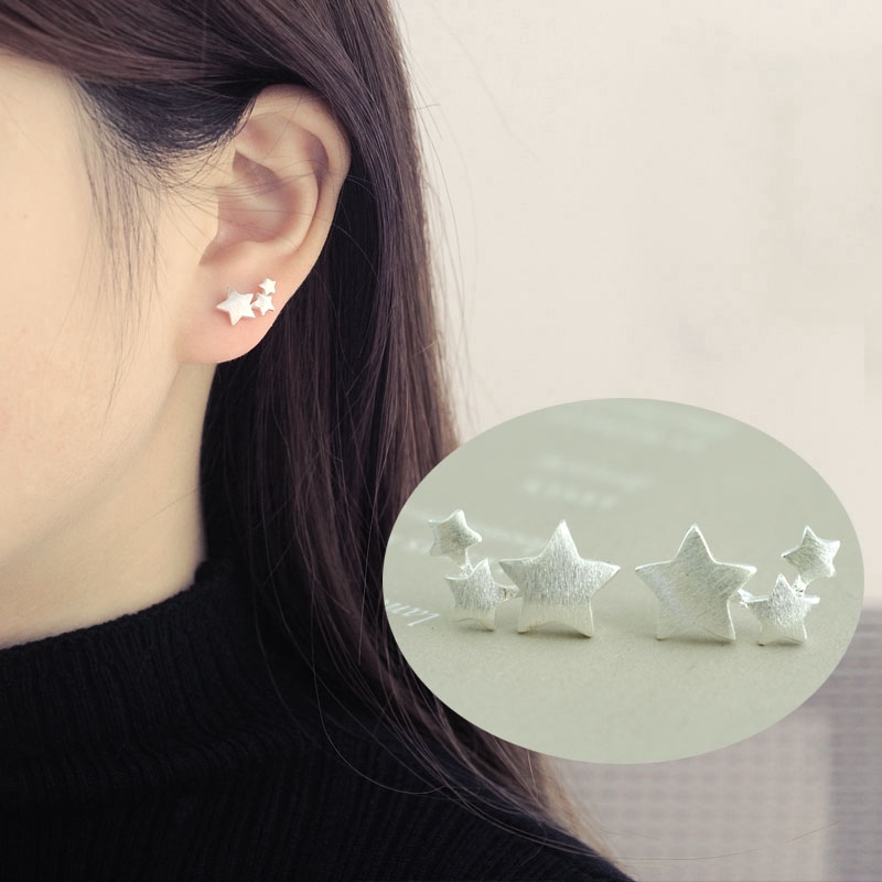 Dark Light Pale Blue or AB White Crystal Hexagon Crystal Stud Earrings Necklace