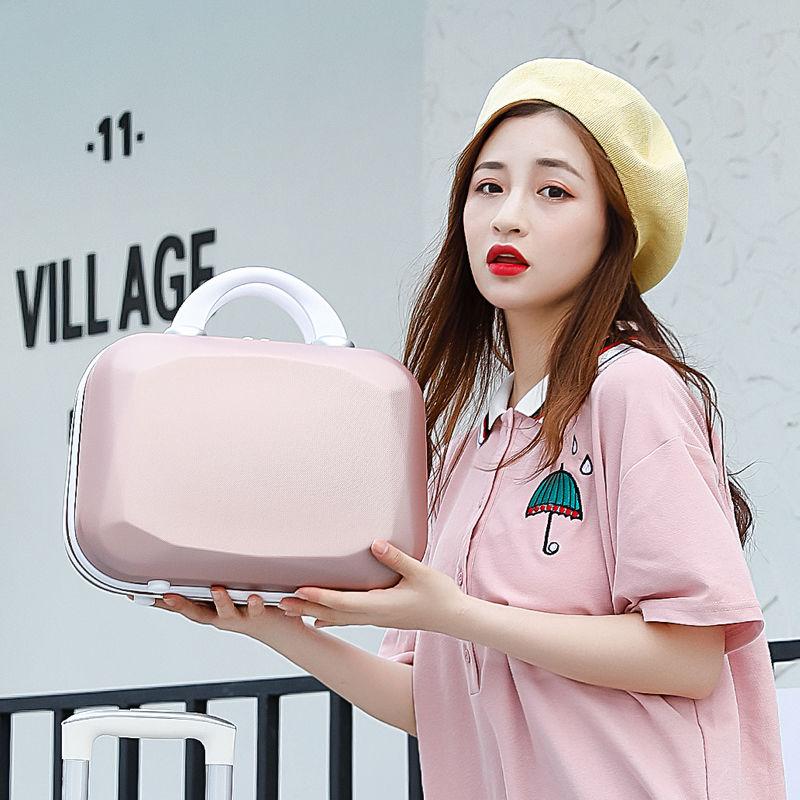 เวอร์ชั่นเกาหลีของกระเป๋าเดินทางล้อสากล24-นิ้ว26-นิ้วinsกระเป๋าเดินทางสุทธิสีแดง