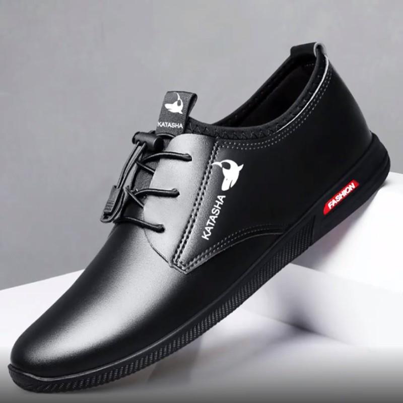 รองเท้าผู้ชายรองเท้าผู้ชายไซส์ใหญ่﹊I SHOES STORES  รองเท้า คัชชูหนัง ผู้ชาย แบบ ผูกเชือก CSB 545 ไซส์ 39-44 รองเท้าหนั
