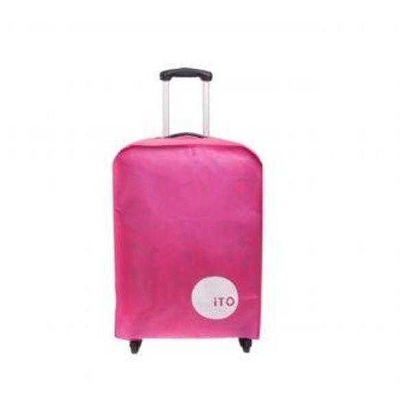 """Tmall ผ้าคลุมกระเป๋าเดินทาง กันรอยขีดข่วน ขนาด 24"""" – Rose Red"""