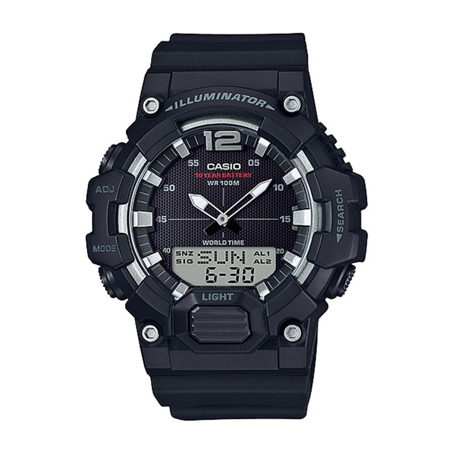 ☄♟Casio Standard นาฬิกาข้อมือผู้ชาย สายเรซิน รุ่น  HDC-700,HDC-700-1A - สีดำ