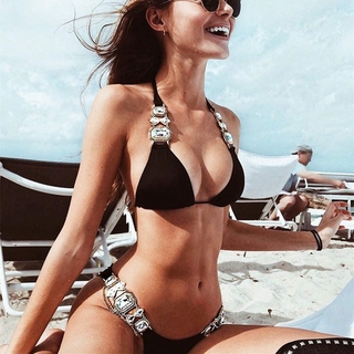 2021 top swimsuit crystal diamond swimsuit sexy swimsuit metal accessories bikini