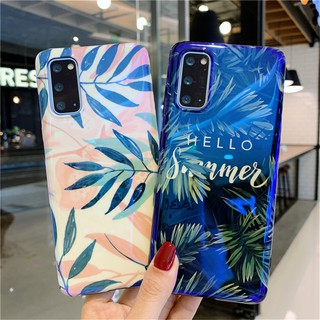 Review เคส Samsung S20 Plus S20+ S20 Ultra S10 S10+ Note 8 note9 Note10 Note10+ S8+ S9+ S9 S8 Blue-Ray Hello Summer Leaf Soft Case
