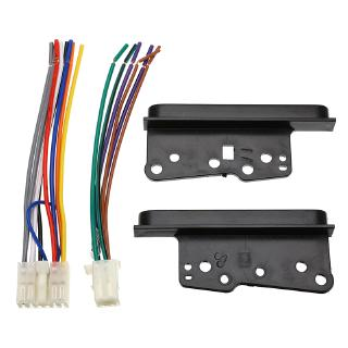 4 Pcs/Set Car Stereo Radio 2 Din Dash Frame Trim With Wire Wiring Harness on