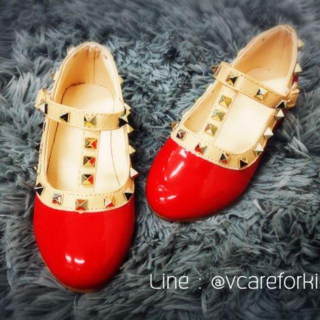 รองเท้าคัชชู เด็กหญิง สีแดง