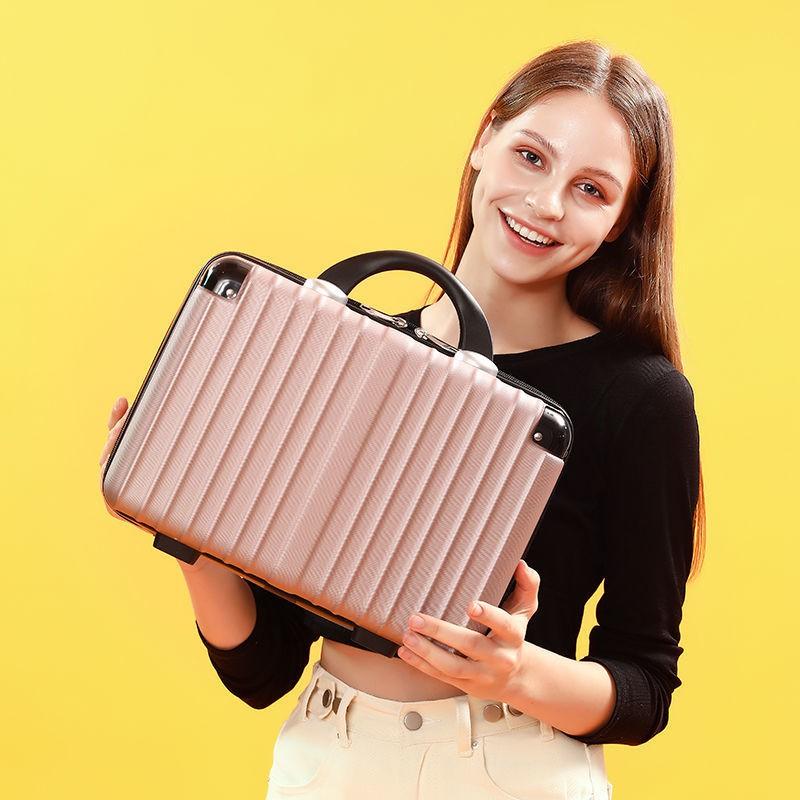 ♞กระเป๋าใส่เครื่องสำอางกระเป๋าถือ 14 นิ้วมินิน่ารักกระเป๋าเดินทางน้ำหนักเบา 16 นิ้วกระเป๋าเก็บ 12 นิ้วกระเป๋าเดินทางขนา