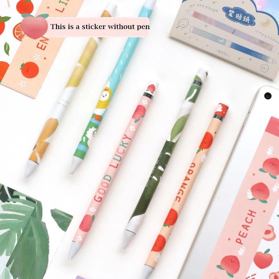 สติ๊กเกอร์กันรอย Sticker Apple Pencil เซต 3 ชิ้น คละ Gen 1/2 ( 8 ลายสุดน่ารัก )