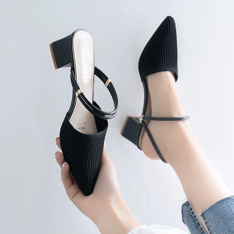 รองเท้าคัชชูผู้หญิง💖รองเท้าคัชชูเปิดส้น รองเท้าคัชชู หัวแหลม รองเท้าเปิดส้น รองเท้าราคาถูก แฟชั่นรุ่นใหม่สุดฮิต