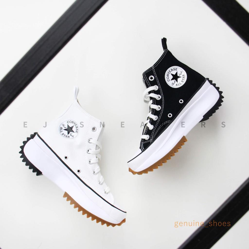 รองเท้าผ้าใบ Converse Run Star Hike Hi สีดํา
