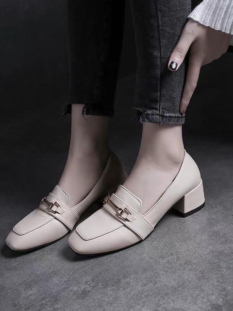 รองเท้าผู้หญิง รองเท้าคัชชู ส้นเตี้ย รองเท้าหัวแหลม รองเท้าคัชชูแฟชั่น รองเท้าหนังผู้หญิง ทันสมัยทรงสวย❤️