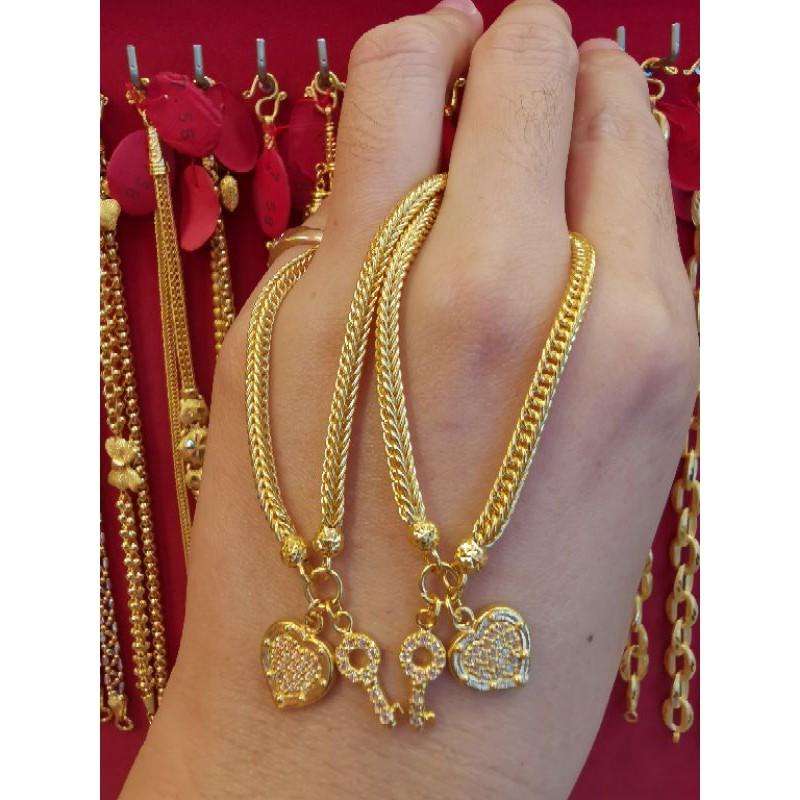 สร้อยมือทอง 96.5%  น้ำหนัก 2 สลึง ยาว 16cm ราคา 15,150บาท