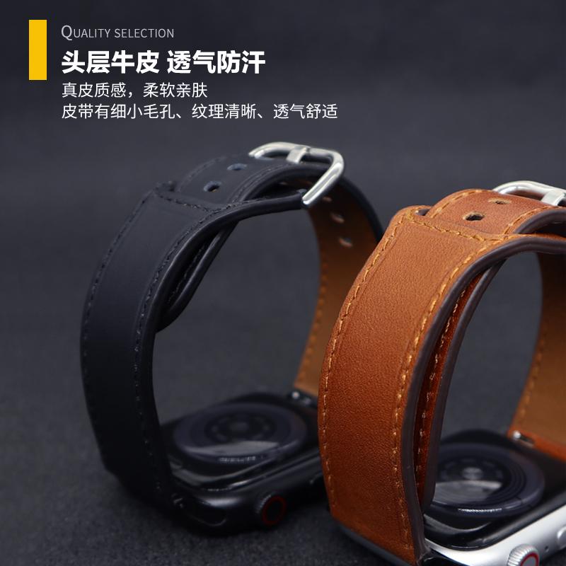 ♭⊙Apple Watch SE สาย applewatch 6/5/4/3/2 Apple รุ่นที่5สาย Watch Series 38/42 MM4 0/Apple 44อุปกรณ์เสริมสายนาฬิกาสายหนั