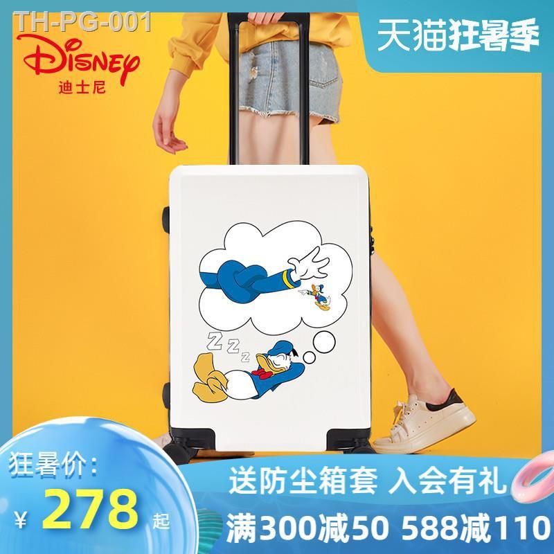 ♧กระเป๋าเดินทาง Disney เพศเมีย โดนัลด์ ดั๊ก 20 นิ้ว กระเป๋าเดินทางขนาดเล็กน้ำหนักเบา ใส่รหัสผ่าน กระเป๋าเดินทาง 24 ใบ