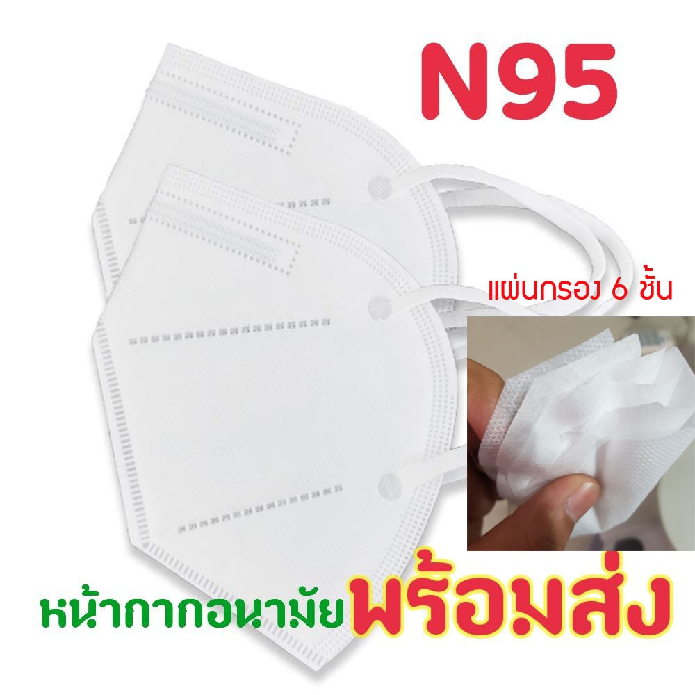 พร้อมส่ง!!หน้ากากอนามัย mask n95 ป้องกันฝุ่น PM2.5 กันเชื้อโรค แมส